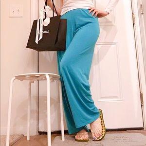 High Waist Wide-legs Jersey Pants